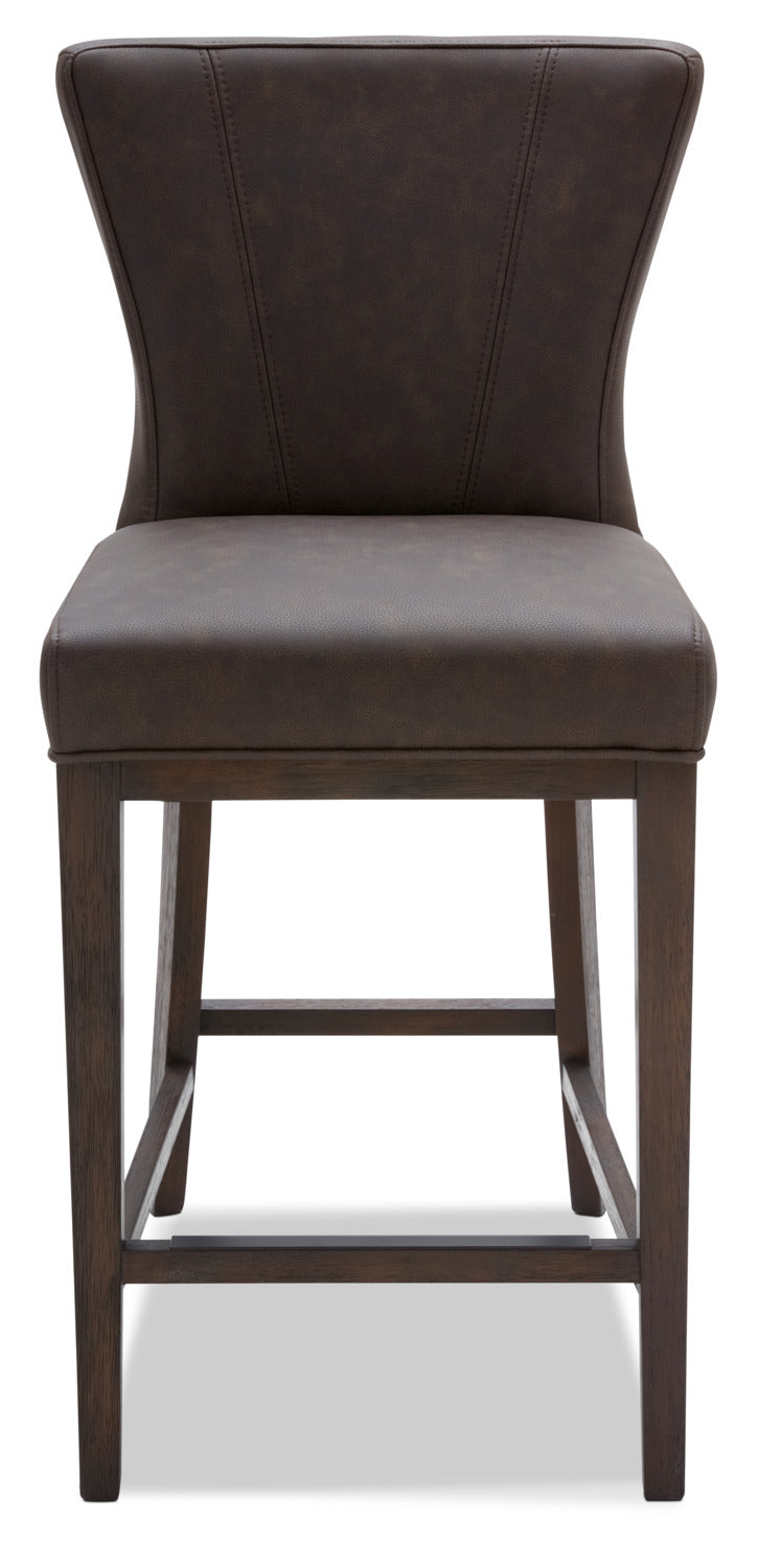 Quinn Counter Height Stool Brown The Brick