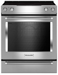 KitchenAid 7.1 Cu. Ft. Slide-In Convection Range with Baking Drawer - Stainless Steel