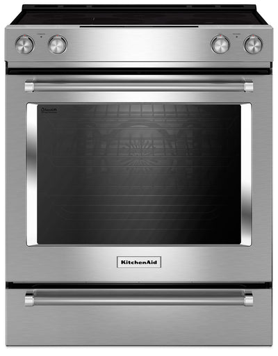 KitchenAid 7.1 Cu. Ft. Slide-In Convection Range with Baking Drawer - Stainless Steel - Electric Range in Stainless Steel