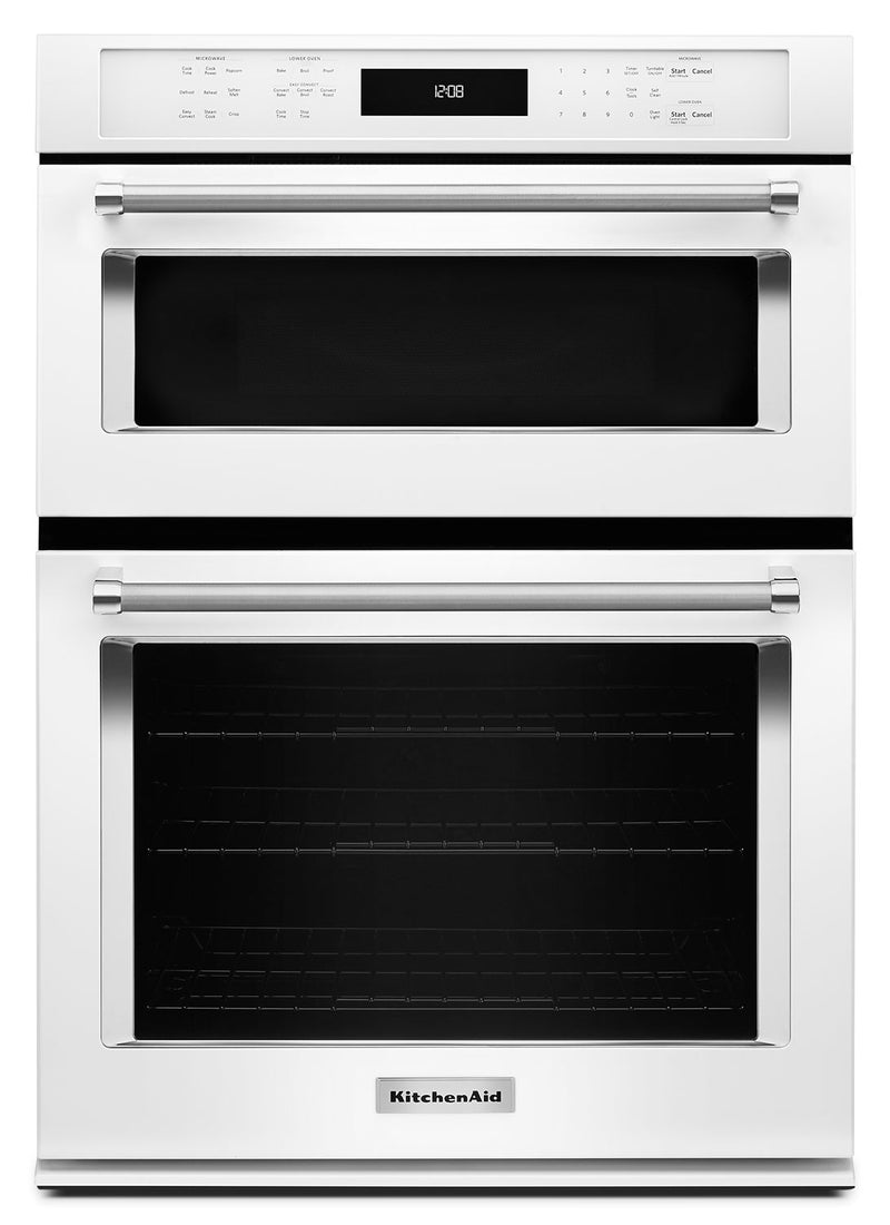"KitchenAid 27"" Combination Wall Oven with Even-Heat™ True Convection - KOCE507EWH