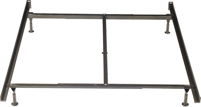Twin/Full/Queen Metal Glide Bedframe - Black Bed Frame