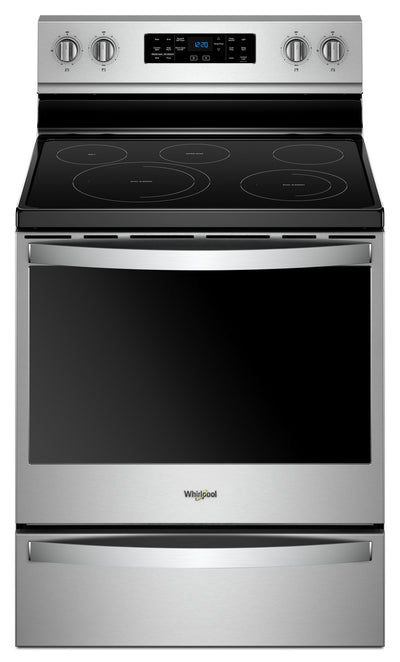 Whirlpool® 6.4 Cu. Ft. Freestanding Electric Range with Frozen Bake™ Technology - Electric Range in Stainless Steel
