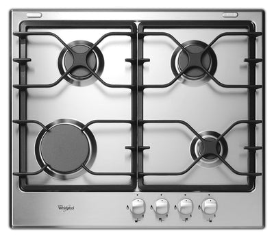 "Whirlpool 24"" Gas Cooktop - WCG5424AS - Gas Cooktop in Stainless Steel"