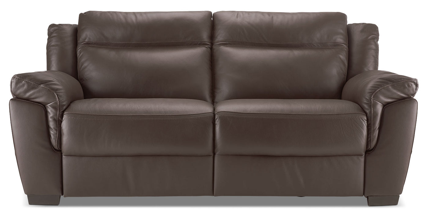 Natuzzi Editions Lemans Genuine Leather Power Reclining