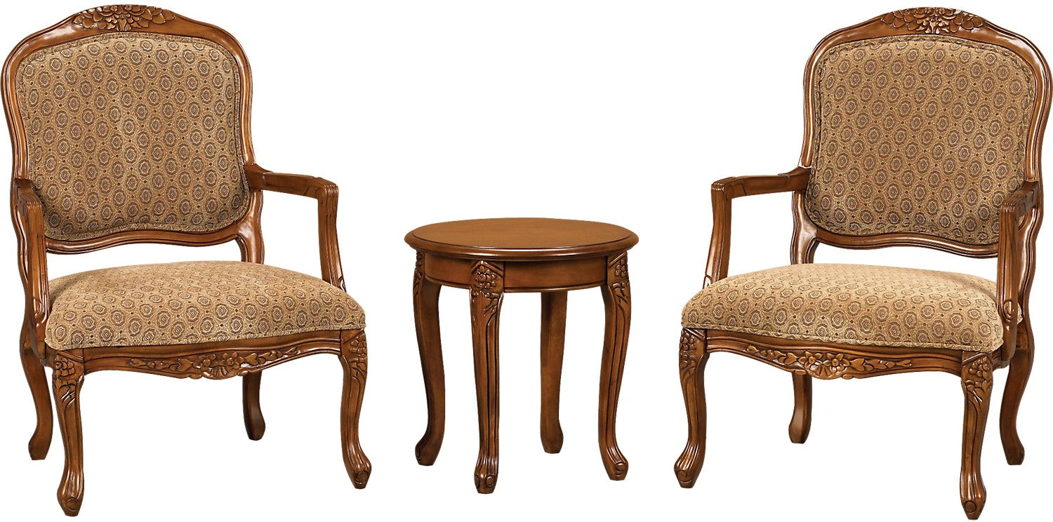 3 piece tasha accent chairs appoint et table dappoint