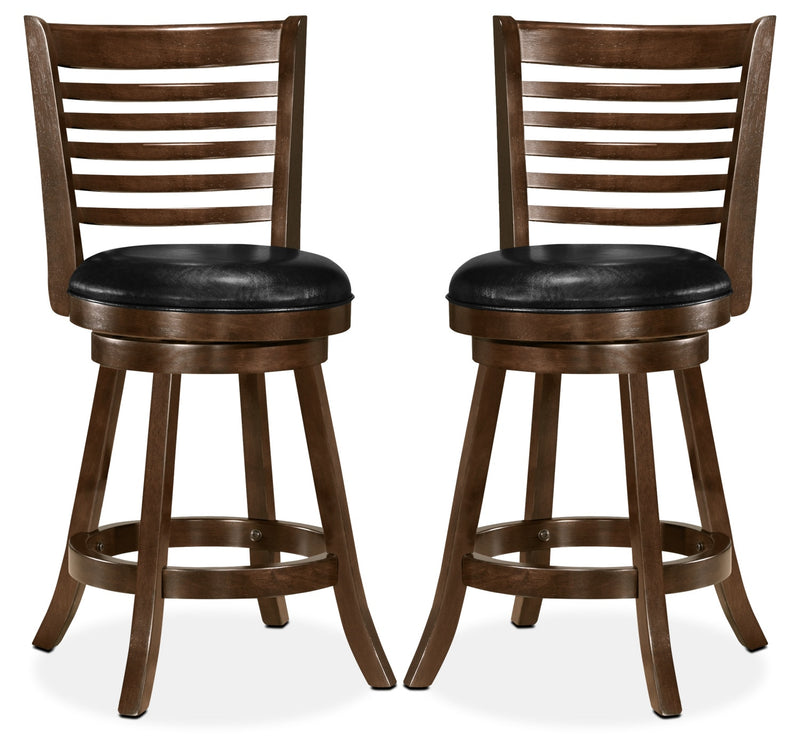 Saul Counter-Height Bar Stool, Set of 2 – Black|Tabouret Saul de hauteur comptoir, ensemble de 2 - noir