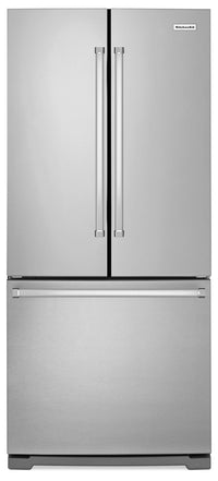 KitchenAid 19.7 Cu. Ft. French Door Refrigerator with Interior Water Dispenser - Stainless Steel