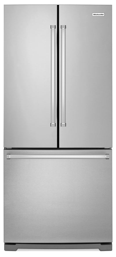 KitchenAid 19.7 Cu. Ft. French Door Refrigerator with Interior Water Dispenser - Stainless Steel - Refrigerator with Ice Maker in Stainless Steel