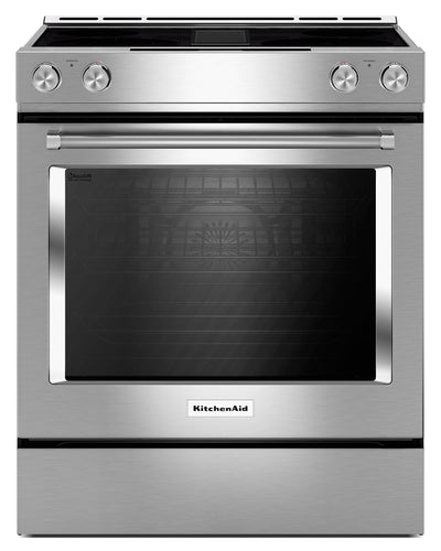 KitchenAid 6.4 Cu. Ft. Downdraft Electric Range – KSDG950ESS - Electric Range in Stainless Steel