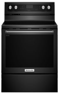 KitchenAid 6.4 Cu Ft. Five-Element Electric Convection Range - Black