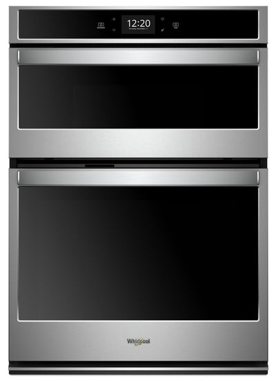 Whirlpool® 5.7 Cu. Ft. Smart Combination Wall Oven with Touchscreen - WOC75EC7HS - Double Wall Oven in Stainless Steel/Black