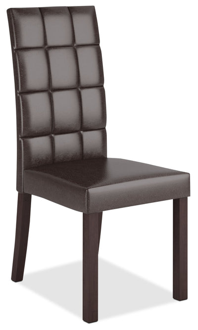 Atwood Faux Leather Dining Chair – Dark Brown|Chaise de salle à manger Atwood en similicuir|DAL-895C