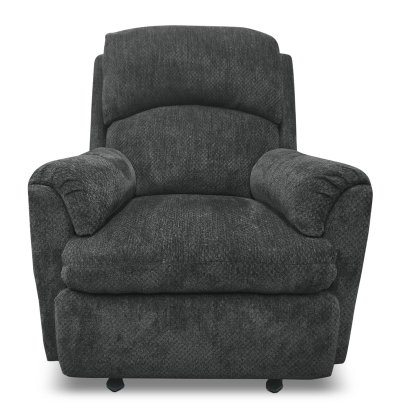 Baron Chenille Power Reclining Chair Grey Fauteuil 224