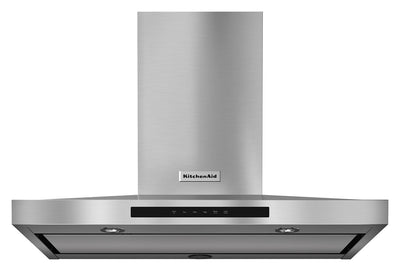 "KitchenAid 36"" Wall-Mount 3-Speed Canopy Hood - Range Hood in Stainless Steel"