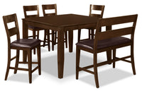 Dakota 6 Piece Counter-Height Dining Package