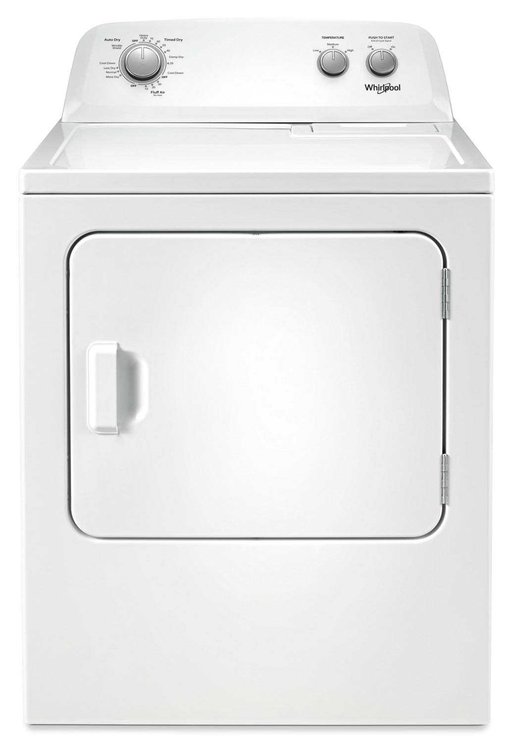 Whirlpool 4 4 Cu  Ft  I E C  Top-Load Washer and 7 0 Cu  Ft  Dryer – White