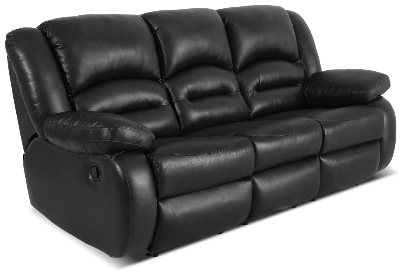 Toreno Genuine Leather Reclining Sofa – Black | The Brick
