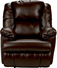 Bmaxx Bonded Leather Power Reclining Chair – Brown