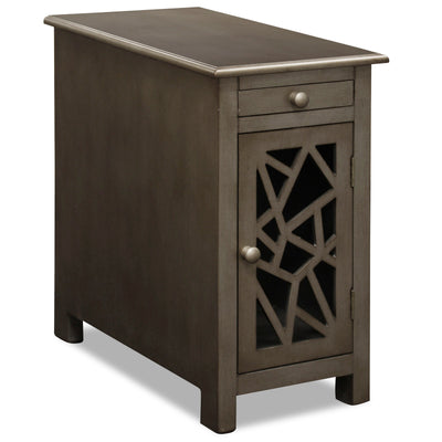 Kaden Chairside Table - Metallic Brown