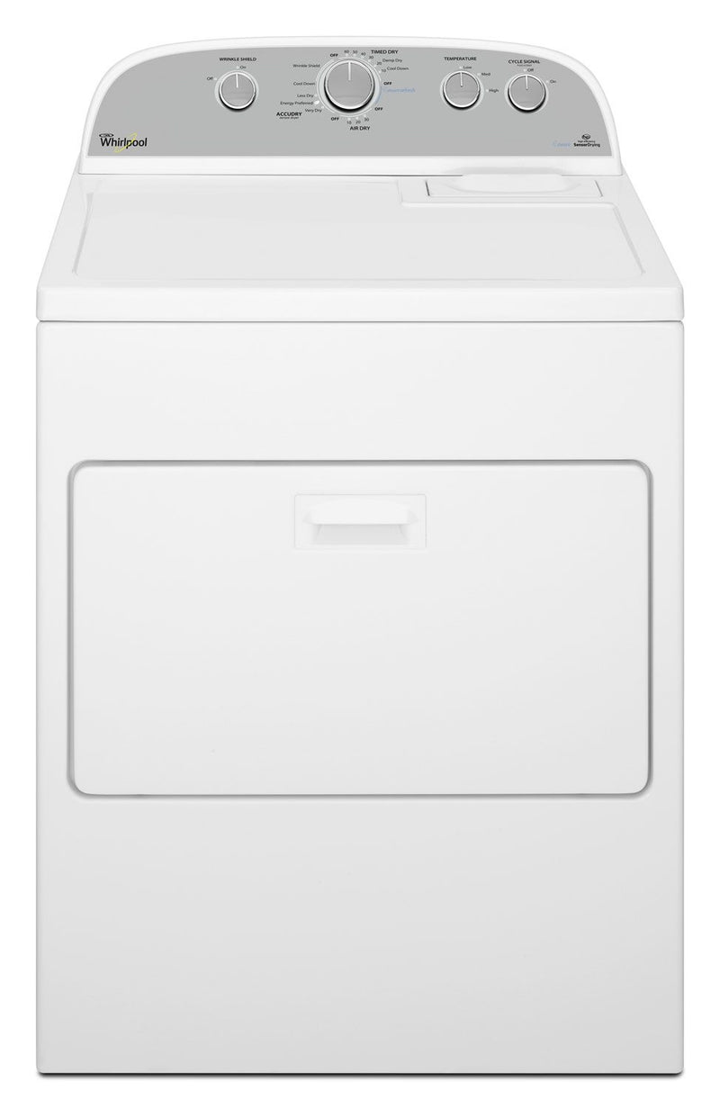 Whirlpool® 7 Cu. Ft. High Efficiency Steam Dryer - White|Sécheuse à la vapeur haute efficacité Whirlpool 7 pi³ - blanche