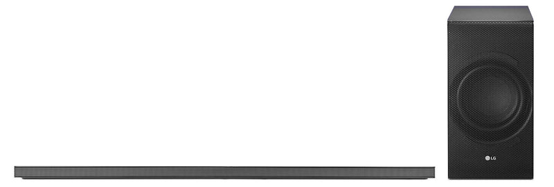 LG SJ8 300 W Soundbar and Wireless Subwoofer|Barre de son et caisson d'extrêmes graves sans fil SJ8 de LG de 300 W