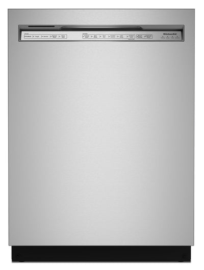 KitchenAid Front-Control Dishwasher with FreeFlex™ Third Rack - KDFM404KPS|Lave-vaisselle KitchenAid avec commandes à l'avant et 3e panier FreeFlexMC - KDFM404KPS|KDFM40KS