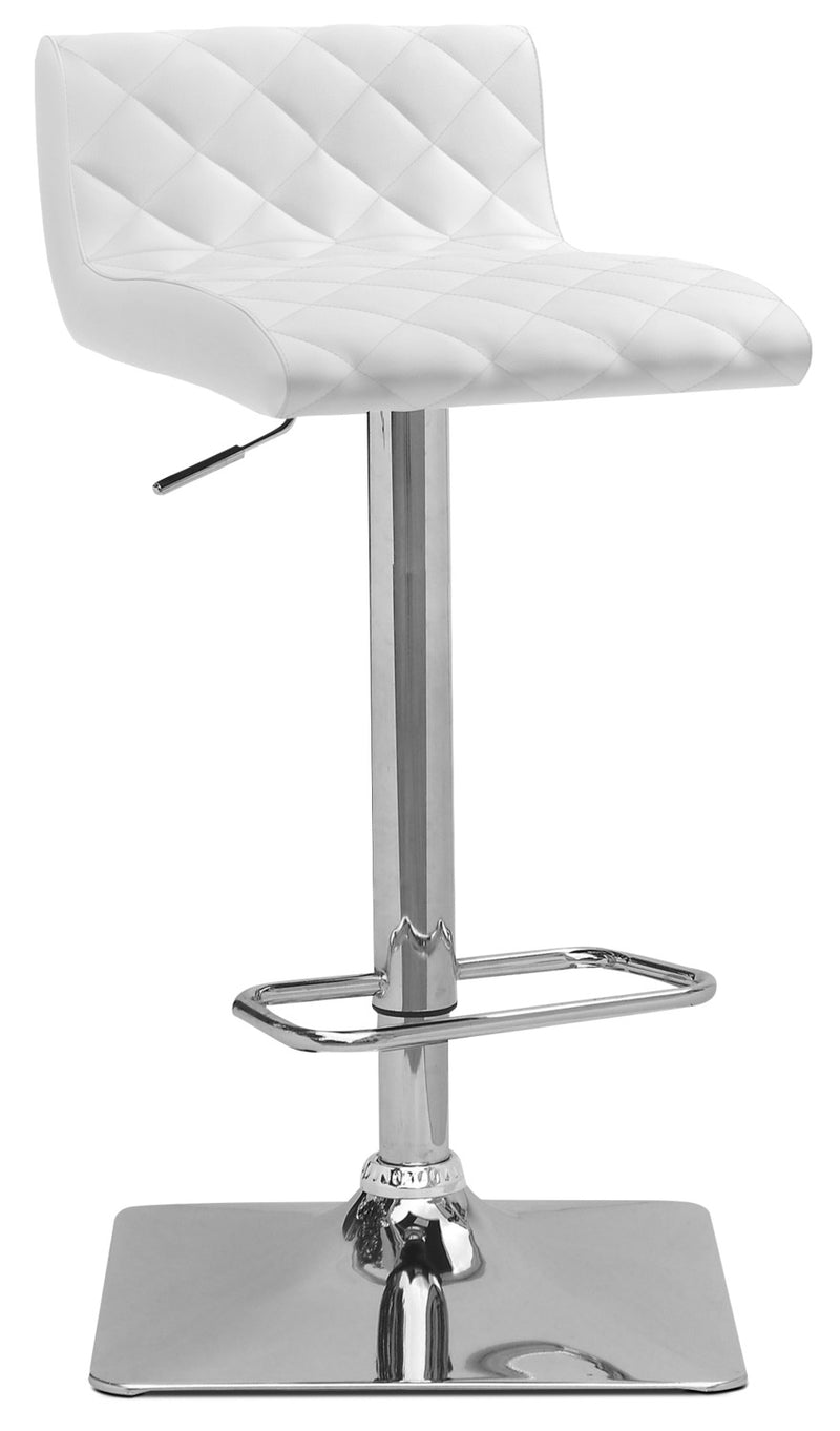 Coen Adjustable Bar Stool – White|Tabouret bar réglable Coen - blanc