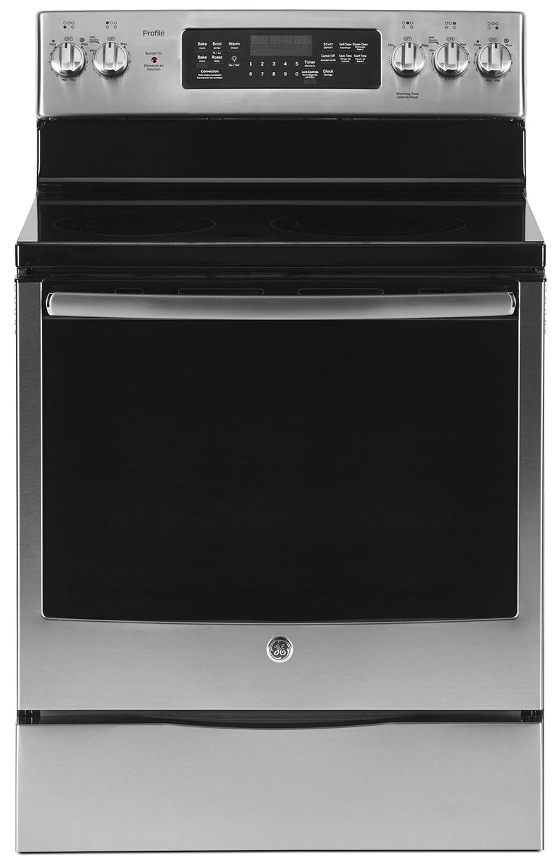GE 6.2 Cu. Ft. Freestanding Electric Range – PCB905SJSS - Electric Range in Stainless Steel