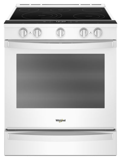 Whirlpool 6.4 Cu. Ft. Smart Slide-in Electric Range with Frozen Bake™ Technology|Cuisinière électrique coulissante intelligente Whirlpool®, technologie Frozen Bake™, 6,4 pi3|YWEE750W