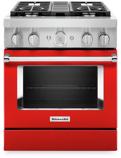 KitchenAid 30'' Smart Commercial-Style Gas Range - KFGC500JPA|Cuisinière à gaz intelligente KitchenAid de 30 po de style commercial - KFGC500JPA|KFGC500A