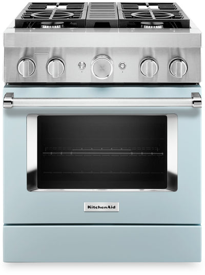 KitchenAid 30'' Smart Commercial-Style Gas Range - KFGC500JIB|Cuisinière à gaz intelligente KitchenAid de 30 po de style commercial - KFGC500JIB|KFGC500I