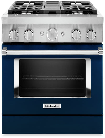 KitchenAid 30'' Smart Commercial-Style Dual Fuel Range - KFDC500JIB