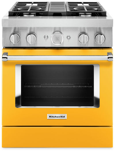 KitchenAid 30'' Smart Commercial-Style Gas Range - KFGC500JYP|Cuisinière à gaz intelligente KitchenAid de 30 po de style commercial - KFGC500JYP|KFGC500P