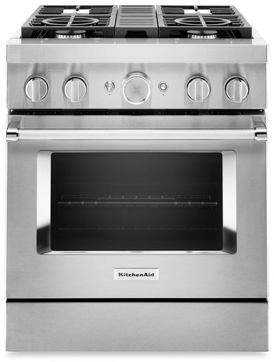 KitchenAid 30'' Smart Commercial-Style Dual Fuel Range - KFDC500JSS|Cuisinière hybride intelligente KitchenAid de 30 po de style commercial - KFDC500JSS