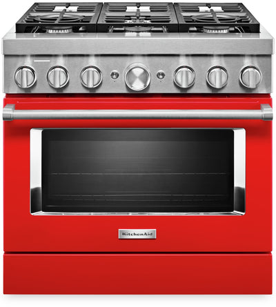 KitchenAid 36'' Smart Commercial-Style Gas Range - KFGC506JPA|Cuisinière à gaz intelligente KitchenAid de 36 po de style commercial - KFGC506JPA|KFGC506A