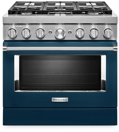 "KitchenAid 36"" Smart Commercial-Style Dual Fuel Range - KFDC506JIB"