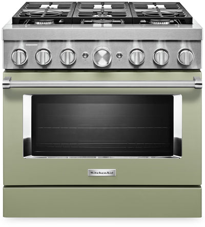 KitchenAid 36'' Smart Commercial-Style Gas Range - KFGC506JAV|Cuisinière à gaz intelligente KitchenAid de 36 po de style commercial - KFGC506JAV|KFGC506V
