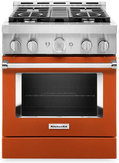 "KitchenAid 30"" Smart Commercial-Style Gas Range - KFGC500JSC