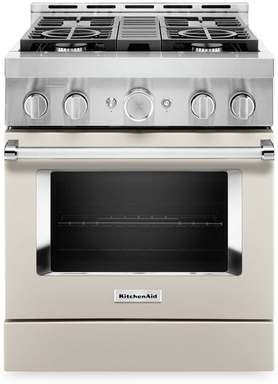 KitchenAid 30'' Smart Commercial-Style Gas Range - KFGC500JMH|Cuisinière à gaz intelligente KitchenAid de 30 po de style commercial - KFGC500JMH|KFGC500H