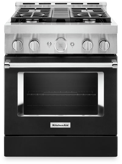 KitchenAid 30'' Smart Commercial-Style Gas Range - KFGC500JBK|Cuisinière à gaz intelligente KitchenAid de 30 po de style commercial - KFGC500JBK|KFGC500K