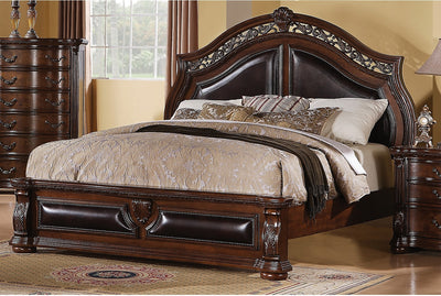 Morocco Queen Bed - Traditional style Bed in Heritage Brown