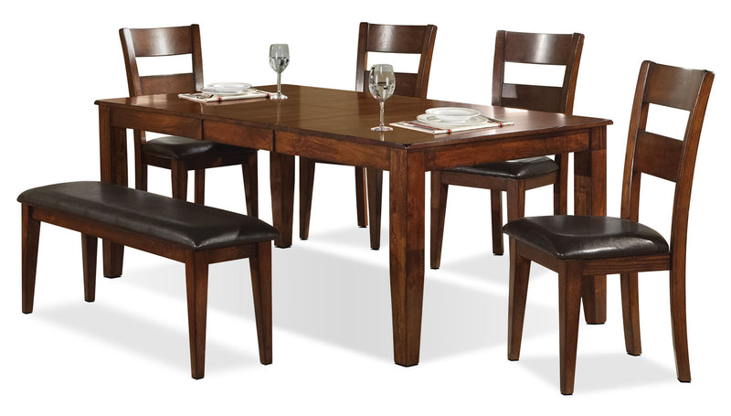 Dakota Light 6-Piece Dining Package|Ensemble de salle à manger Dakota 6 pièces pâle