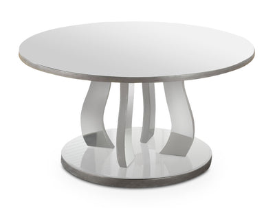 Laurel Coffee Table - Glam style Coffee Table in Silver Glass and Wood