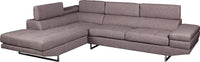 Zeke 2-Piece Linen-Look Fabric Left-Facing Sectional - Platinum