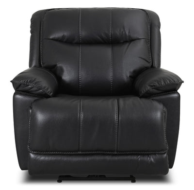 Matt Leather-Look Fabric Reclining Chair – Black|Fauteuil inclinable Matt en tissu apparence cuir - noir|MATTBKRC