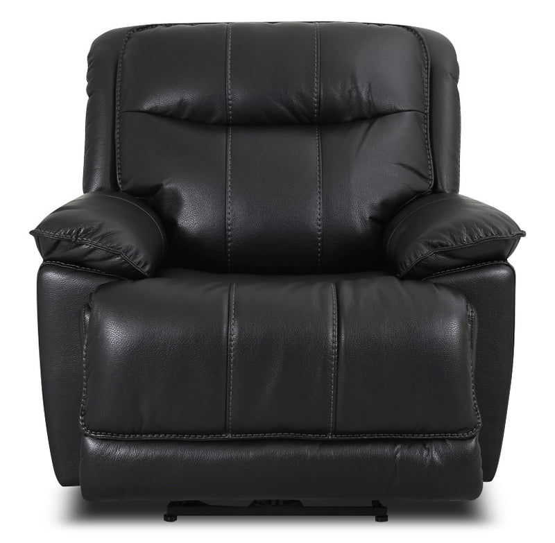 Matt Leather-Look Fabric Power Reclining Chair – Black|Fauteuil à inclinaison électrique Matt en tissu apparence cuir - noir|MATTBKPC