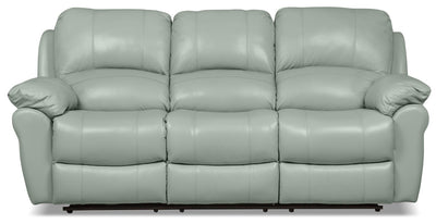 Kobe Genuine Leather Power Reclining Sofa - Blue - Contemporary style Sofa in Blue