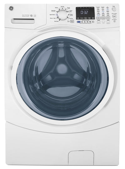 GE 5.2 Cu. Ft. Capacity Front-Load Washer with Stainless Steel Drum – GFW450SSMWW|Laveuse GE à chargement frontal de 5,2 pi³ avec tambour en acier inoxydable - GFW450SSMWW|GFW450MW