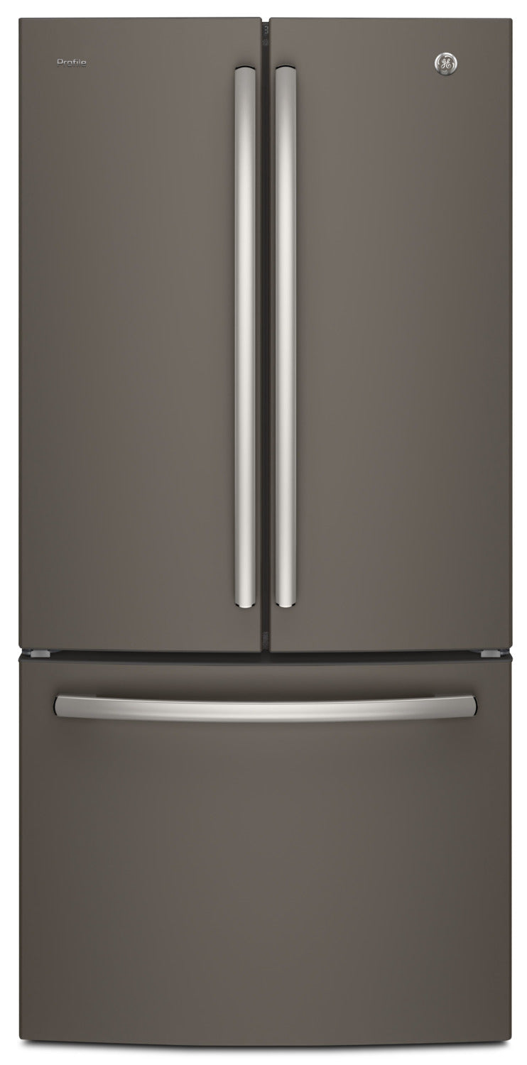 GE Profile 24.5 Cu. Ft. French-Door Refrigerator with Space-saving Icemaker – PNE25NMLKES|Réfrigérateur GE Profile de 24,5 pi³ à portes françaises avec machine à glaçons– PNE25NMLKES