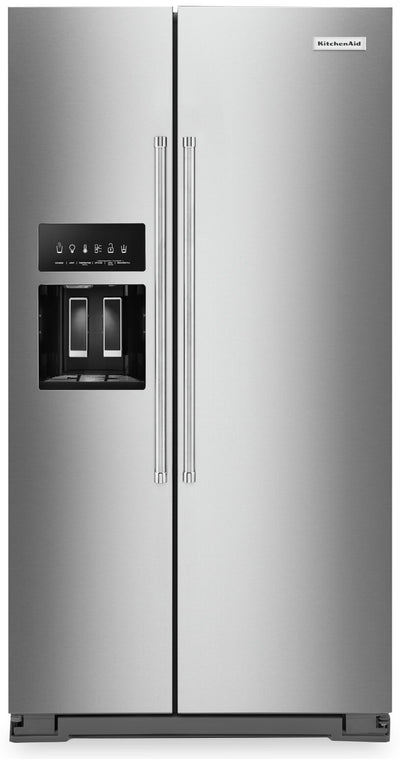 KitchenAid 24.8 Cu. Ft. Side-by-Side Refrigerator - KRSF705HPS - Refrigerator in Stainless Steel with PrintShield™ Finish